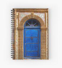 blue oriental door Spiral Notebook