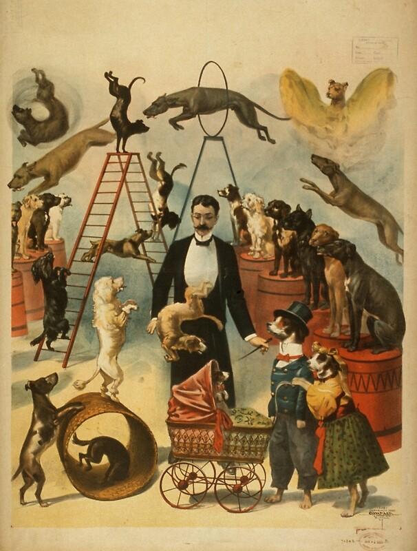 Люблю, винтажные картинки цирк