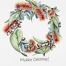 Australischer Blumenweihnachtskranz von JRoseDesign