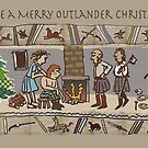 Christmas Card 1 Gabeaux Tapestry by jennyjeffries