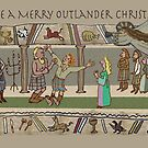 Christmas Cards of Gabeaux Tapestry No. 2 by jennyjeffries
