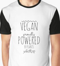 Vegan Pride Powered By Plants Funny Gift Idea Graphic T-Shirt
