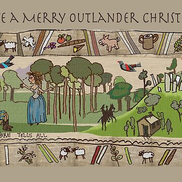 Christmas Cards - Gabeaux Tapestry No. 5 by jennyjeffries