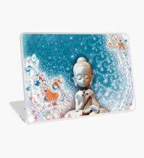 Meditating Buddha on a rock Laptop Skin