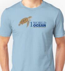 1 World Ocean - Hawksbill Sea Turtle Unisex T-Shirt