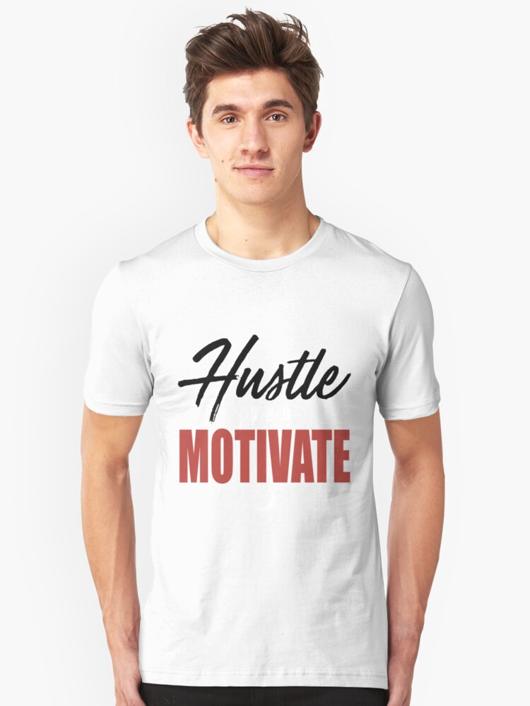 'WYD Hustle _ Motivate Tee Grey Black Red NIPSEY HUSSLE VICTORY LAP hustle'  T-Shirt by AmyMcBryde