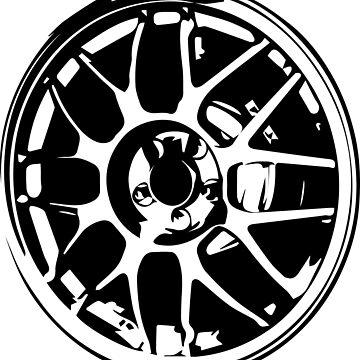 Subaru 22b Wheel T Shirt By Fishyart