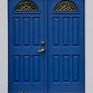 Blue Door in Willie Nelson's Hometown by Susan Russell