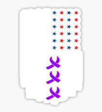 Alzheimer Purple Ribbon Flag Sticker
