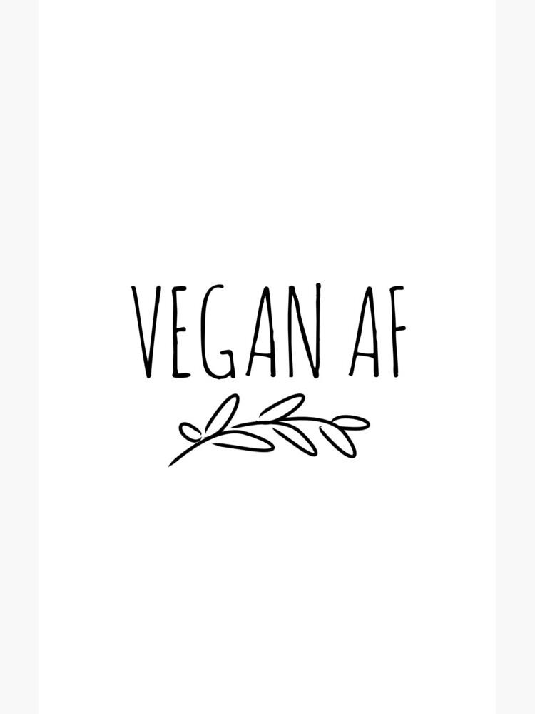 Proud Vegan Af Funny Gift Idea de FunnyGiftIdeas