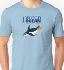 1 World Ocean - Gentoo Penguin Unisex T-Shirt