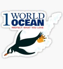 1 World Ocean - Gentoo Penguin Sticker