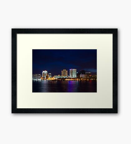 The City That Mostly Sleeps Framed Print