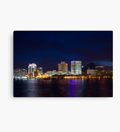The City That Mostly Sleeps Canvas Print