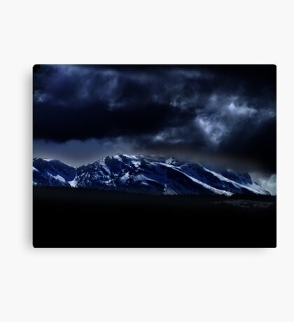 Mountains and moonlight Canvas Print