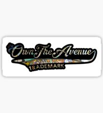 OwnTheAvenue Ribbon Sticker Bomb Logo Sticker