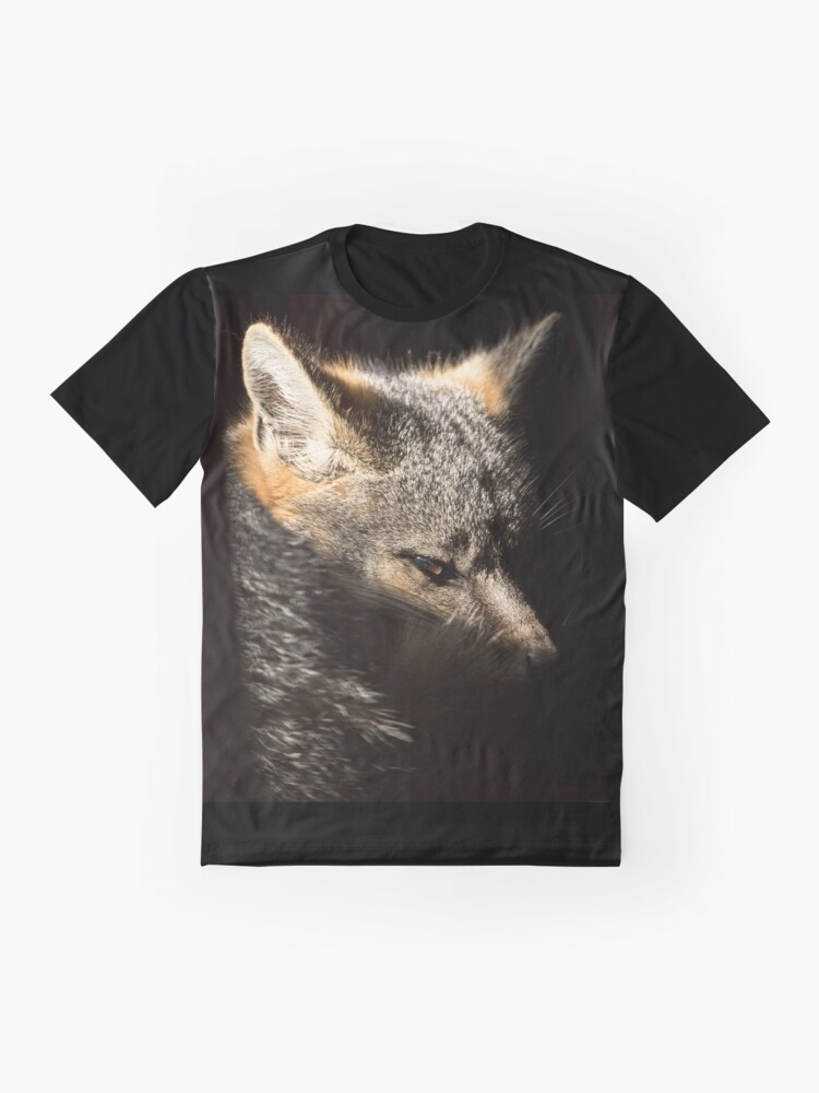Alternate view of Fox in a sunbeam Graphic T-Shirt