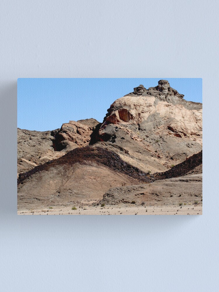 Alternate view of The skull of the rock man Canvas Print