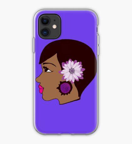 Flower Women Black Queen Summer Apparel  iPhone Case