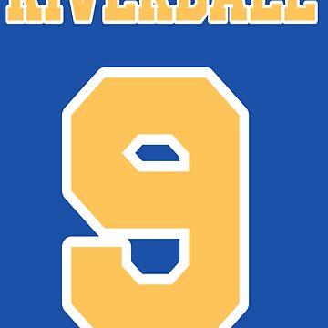 Riverdale Fußball Nummer 9 von retr0babe