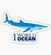1 World Ocean - Blue Shark Sticker