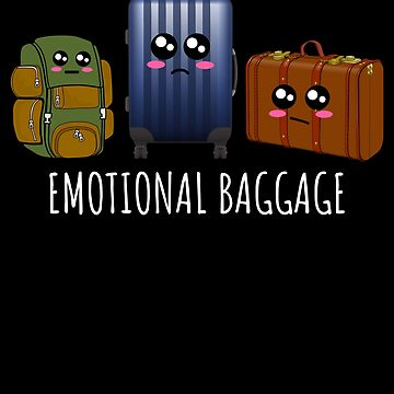 Emotional Baggage Funny Baggage Pun by DogBoo