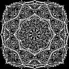 Meditation Square Mandala Hand Drawn Geometric Pattern - Yoga Gifts, Boho Gifts by Leah McNeir