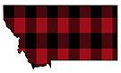 Montana Dressed in Red Plaid by Sun Dog Montana