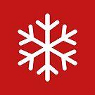 Weihnachtsschneeflocke - Rot von CleverCharles