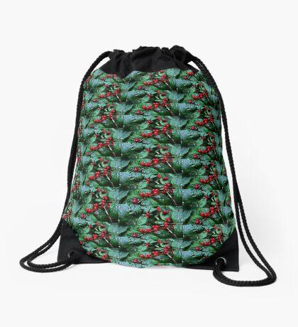 Rainy berries Drawstring Bag