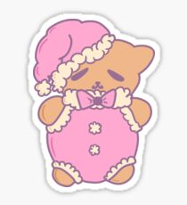 Gingerbread Santa Teddy Sticker