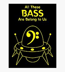 All These Bass Are Belong to Us Photographic Print