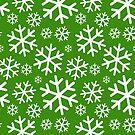 Weihnachtsschneeflocke - Grün von CleverCharles