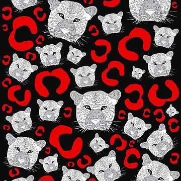 Red Hot Cheetah Print by Surrealist1