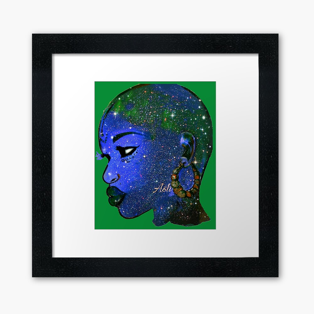 Naturally Bald Woman And Bold Beautify Made Queen Framed Art Print