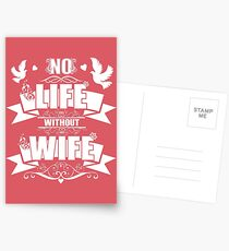 Life Is Wife Postcards