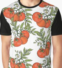 Print with red tomatoes. Graphic T-Shirt