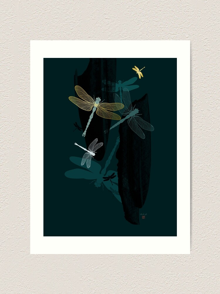 Alternate view of Midnight Dragonflies Art Print
