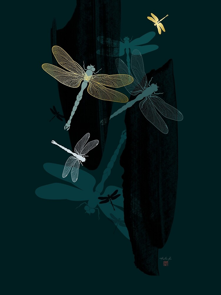 Midnight Dragonflies by Thoth-Adan