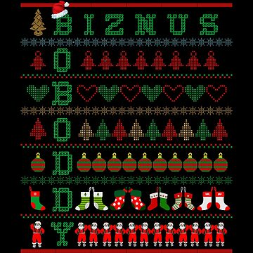 Biznus Boboddy - The Office - Christmas Sweater Design by birdeyes