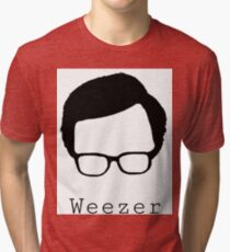 Weezer cut out  Tri-blend T-Shirt