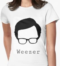 Weezer cut out  Women's Fitted T-Shirt