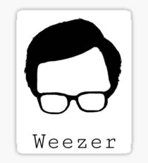 Weezer cut out  Sticker