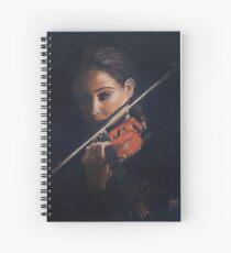 """Violin"" Oil on Canvas Spiral Notebook"