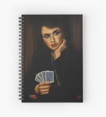 """""""Full House"""" Oil on Canvas Spiral Notebook"""