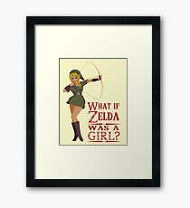 What if Zelda was a girl? (it's a joke) Framed Print