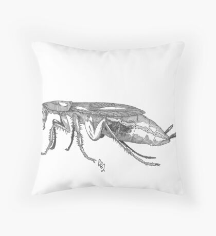 Common German Cockroach Throw Pillow