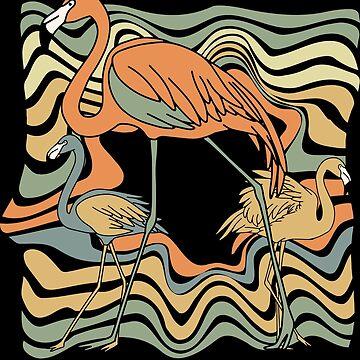 Flamingo bird by GeschenkIdee