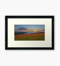 An Evening at Polly Joke Poppy Fields Framed Print