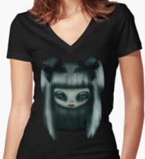 Silver Doll Women's Fitted V-Neck T-Shirt